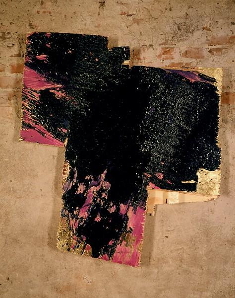 Serie bitumen gold / Kreuz (2)