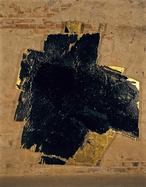 Serie bitumen gold / Kreuz (5)