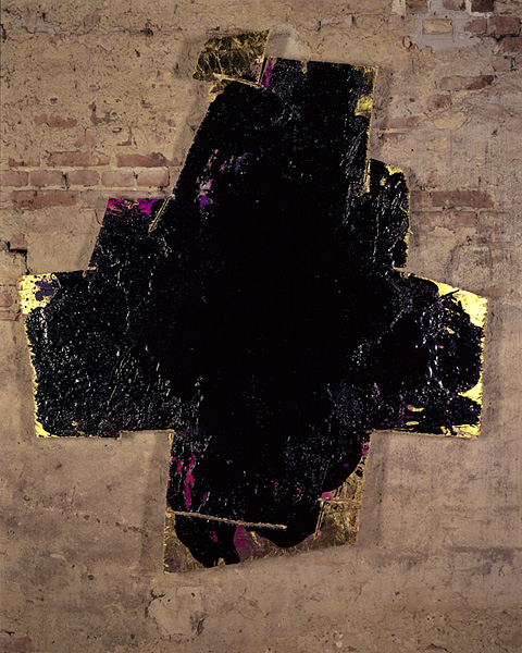 Serie bitumen gold / Kreuz (6)