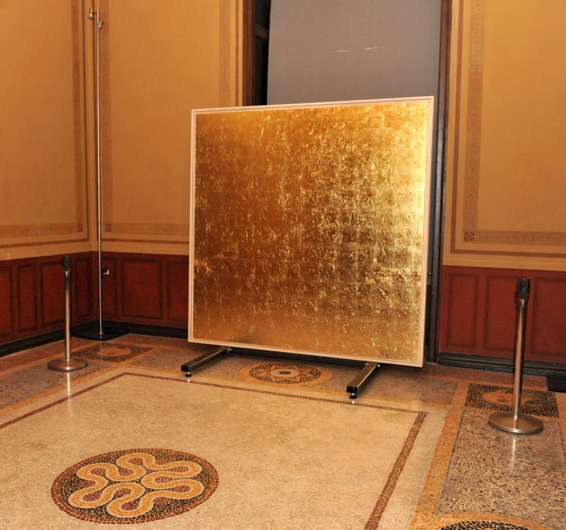 Art Actions: golden field in the Numismatic Museum, Athens