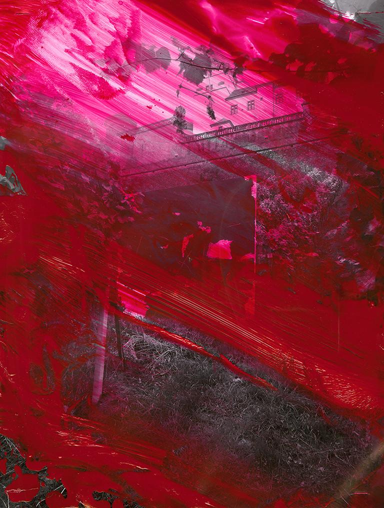 Würzbuge, Schädelbild vor Festung Marinenberg, Festung Marienberg, Kunst, abstrakte Kunst, Berliner Künstler